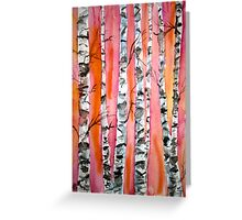 birch tree watercolor painting Greeting Card