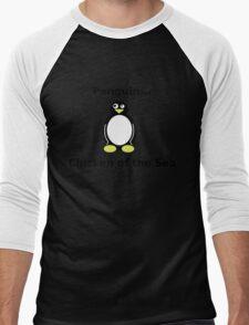 Delicious Penguin Men's Baseball ¾ T-Shirt