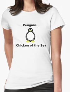 Delicious Penguin Womens Fitted T-Shirt