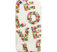 LOVE Spring Flowers iPhone Case/Skin