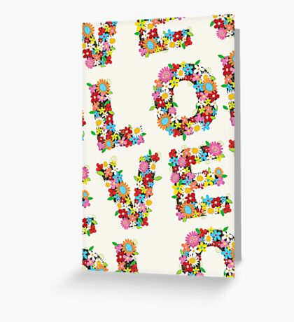 LOVE Spring Flowers Greeting Card