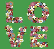 LOVE Spring Flowers Kids Clothes