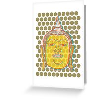 Buddha's Smile Oriental Zen Pop Art Greeting Card
