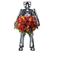 cyberman with flowers  by sherlokian