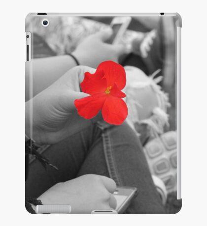 Red Flowers iPad Case/Skin