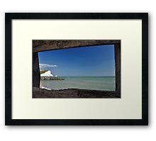 framed sea Framed Print