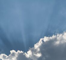 Cloud and Sunbeams Horizontal by Inimma