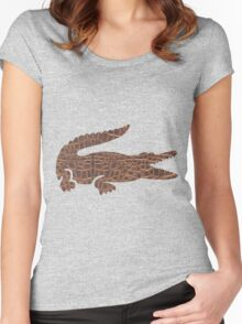 Safari Croc Women's Fitted Scoop T-Shirt