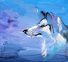 Wolf Ayka - Animal Art by Valentina Miletic by Valentina Miletic