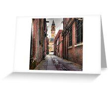George and Crown Yard Wakefield. Greeting Card