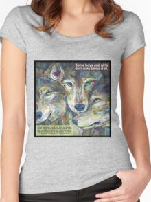 Not necessarily a lone wolf (Gray wolf) Women's Fitted Scoop T-Shirt