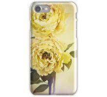 Yellow Peonies iPhone Case/Skin