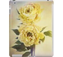 Yellow Peonies iPad Case/Skin