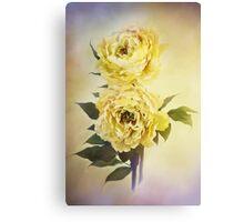 Yellow Peonies Canvas Print