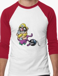 Wario Coppertone Ad Men's Baseball ¾ T-Shirt