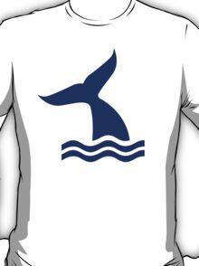 Whale fin waves T-Shirt