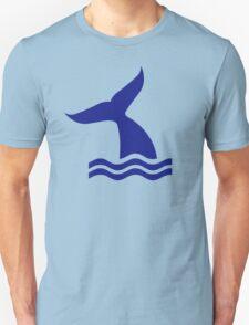 Whale fin waves Unisex T-Shirt
