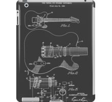 Fender Telecaster Tone Control Patent Drawing Design iPad Case/Skin