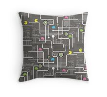 Return Of The Retro Video Games Circuit Board Throw Pillow