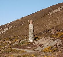 Blue Hills Valley - Lonley Chimney - Cornwall by cornwall-photos