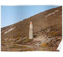 Blue Hills Valley - Lonley Chimney - Cornwall Poster