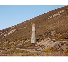 Blue Hills Valley - Lonley Chimney - Cornwall Photographic Print