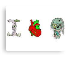 I Love Zombies ! Canvas Print