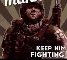 He fights for Mankind! by WarpDustDesign