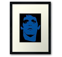 Lou Reed Blue Mask T Shirt Framed Print