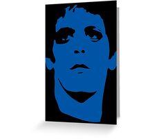 Lou Reed Blue Mask T Shirt Greeting Card