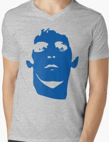 Lou Reed Blue Mask T Shirt Mens V-Neck T-Shirt
