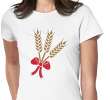 Wheat bow Womens Fitted T-Shirt