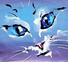 Big Eyes Cat - Animal Art by Valentina Miletic by Valentina Miletic