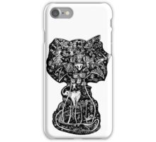 Mind Wandering Cat by Mike Hobson iPhone Case/Skin