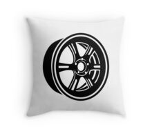 Wheel rim Throw Pillow