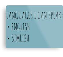 Languages I Can Speak Metal Print