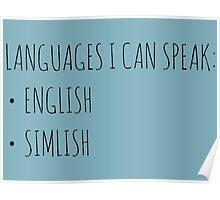 Languages I Can Speak Poster