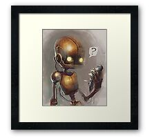 Curious robo Framed Print