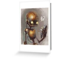 Curious robo Greeting Card