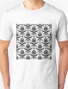 Hot Pink & Black Damask Throw Pillow Unisex T-Shirt