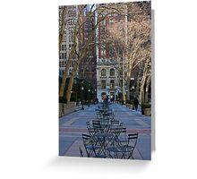 Bryant Park, New York Greeting Card