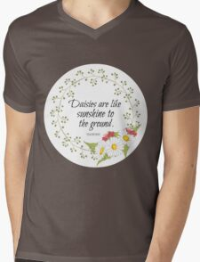 Daisies Are Like Sunshine To The Ground Mens V-Neck T-Shirt