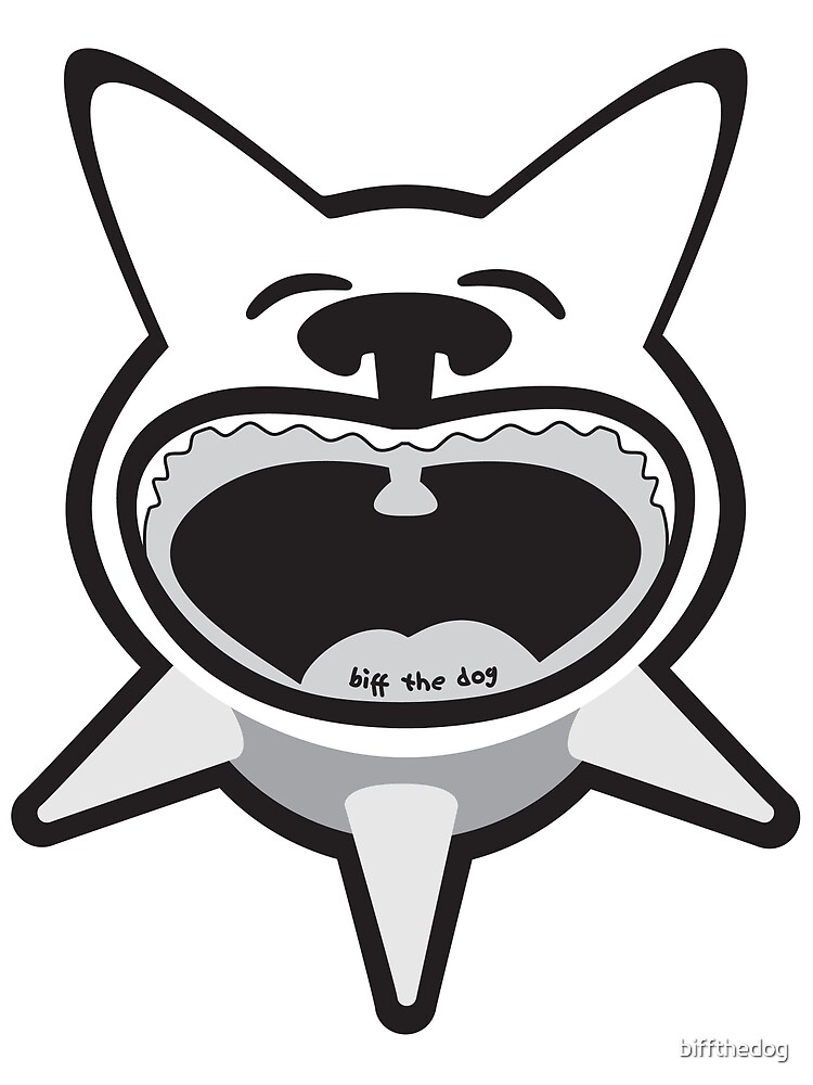 Black and White Big Mouth Biff by biffthedog
