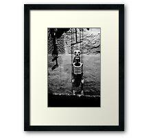 Puppet master just hanging around Framed Print