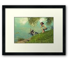 the end of the story Framed Print