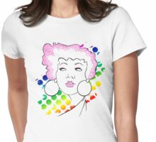 Disco girl -pink Womens Fitted T-Shirt