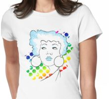 Disco girl -blue Womens Fitted T-Shirt