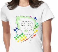 Disco girl -green Womens Fitted T-Shirt