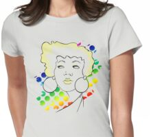 disco girl -yellow Womens Fitted T-Shirt
