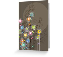 My Groovy Flower Garden Grows Greeting Card